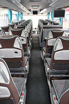 the interior of the c-class bus