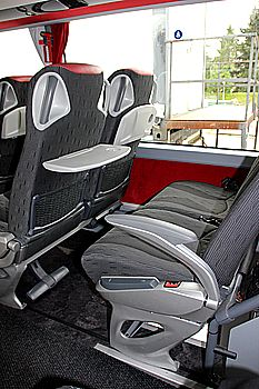Inner view Doubledecker reclining seats